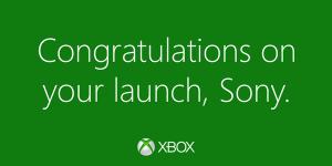 Microsoft gratuliert Sony
