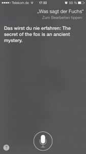 Siri, What Does the Fox Say? (Screenshot: NewsCouch.de)