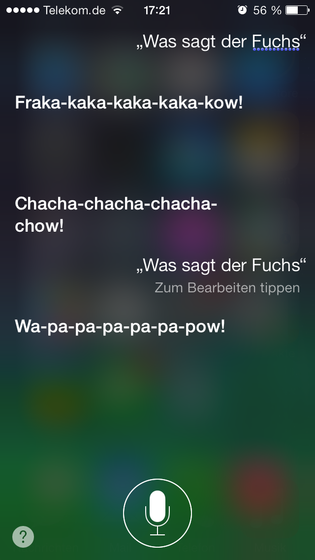 What Does the Fox Say, Siri? 1