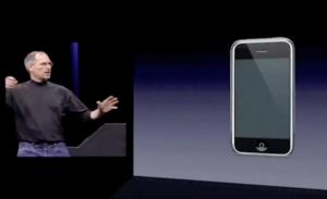 So stellte Steve Jobs das iPhone am 9. Januar 2007 vor.