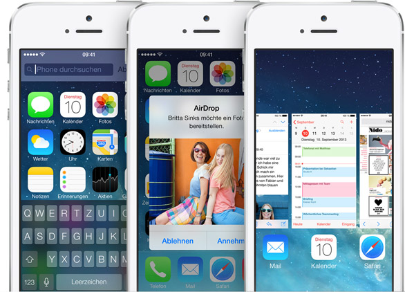 Apples iOS 7 (Bild: Apple)