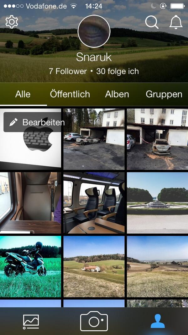 Flickr 3.0 - App auf iOS
