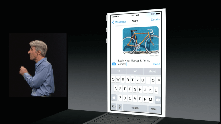 Apple iOS 8 - QuickType