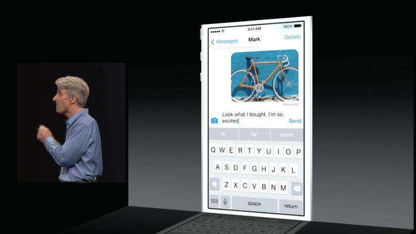 Apple iOS 8 - QuickType