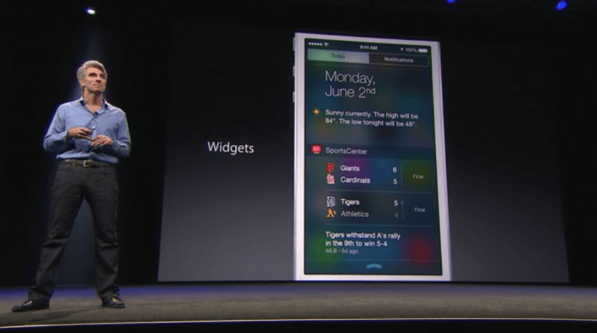 iOS 8 - Notification Center Widgets