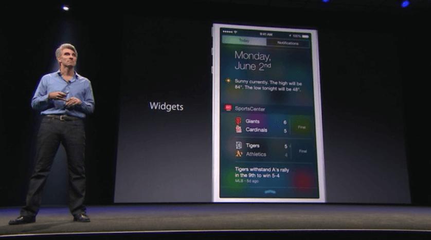 iOS 8 - Notification Center Widgets