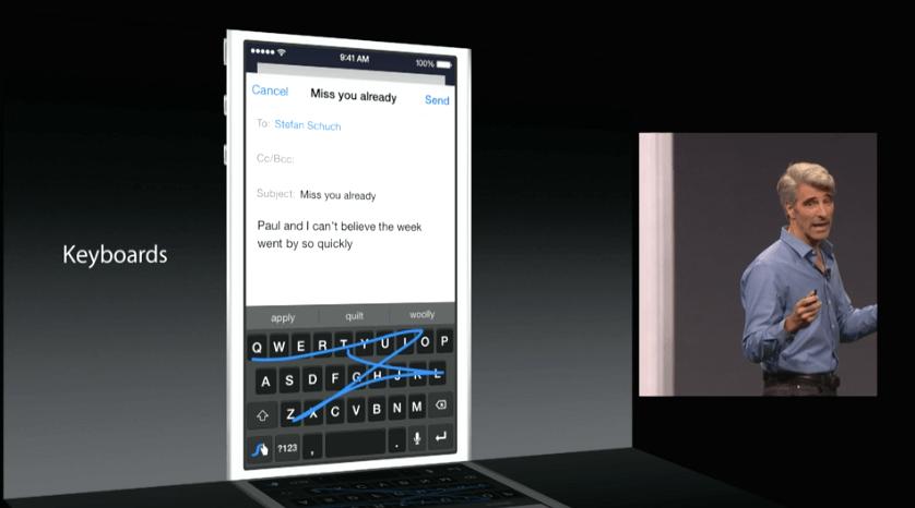 Apple QuickType und Drittanbieter Tastaturen werden unterstützt 1