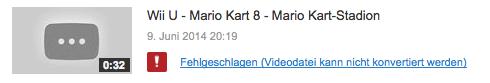 YouTube - Wii U Upload