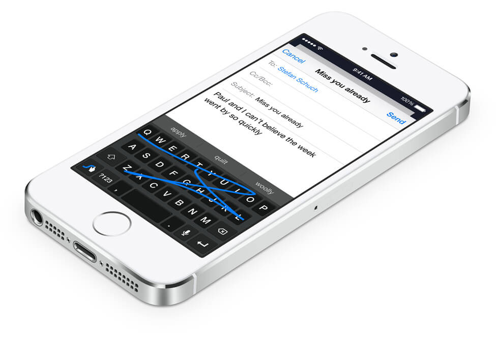 Swype on iPhone