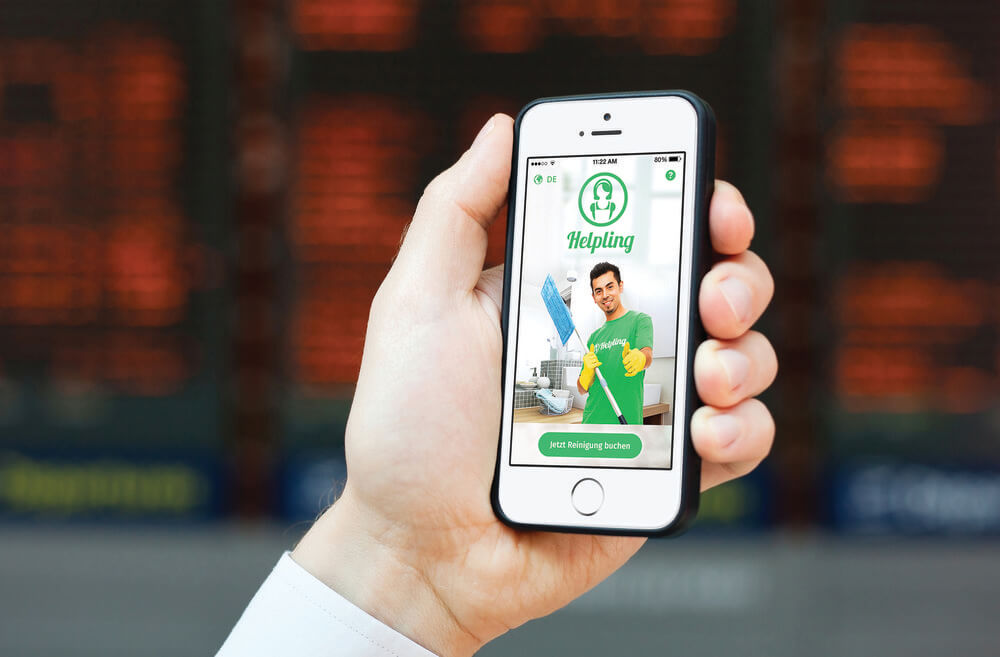 Klick zur perfekten Putzhilfe: Helping startet App für iOS und Android 1