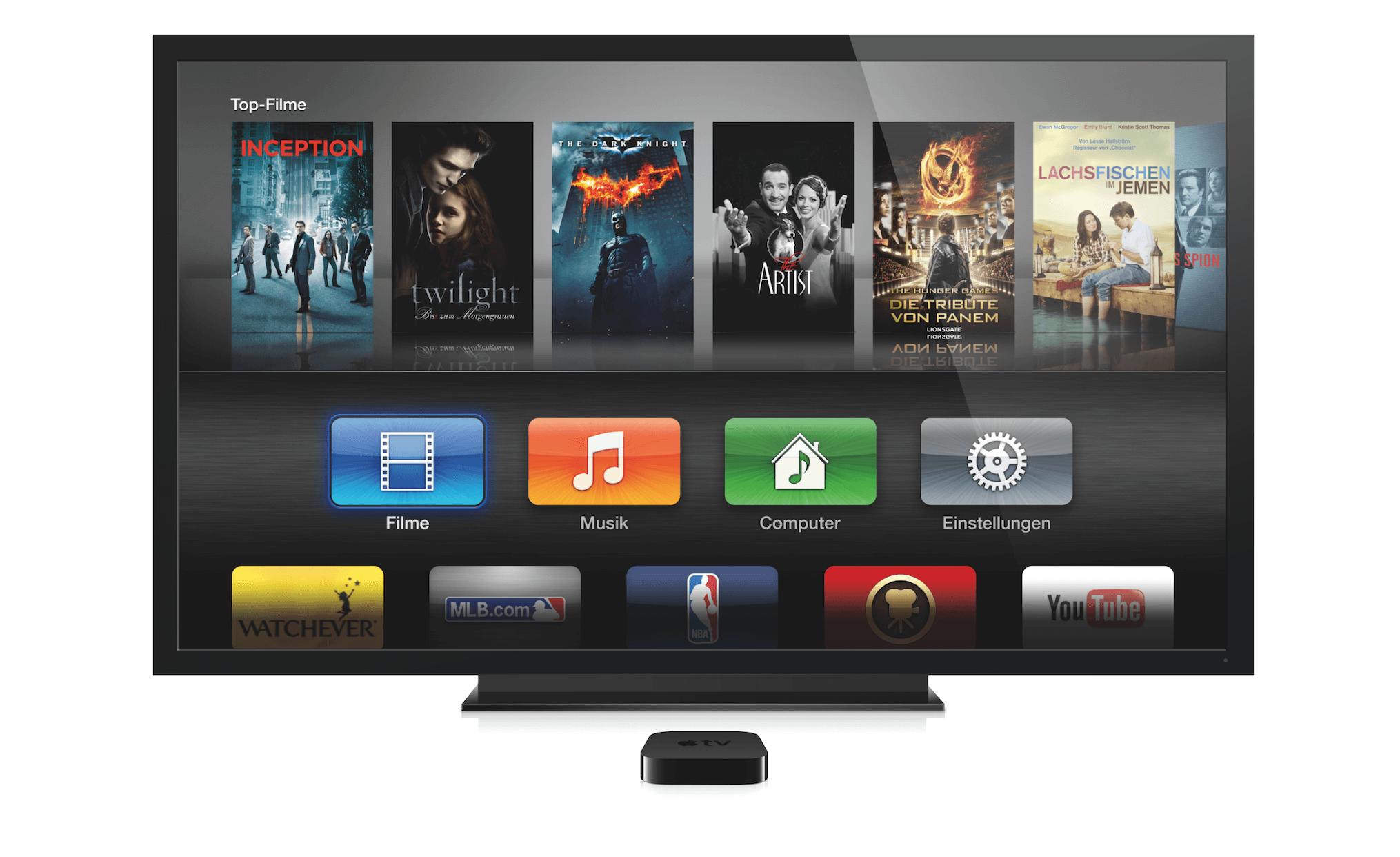 Apple TV in der alten Optik