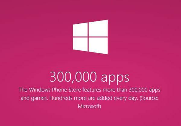 Windows Phone: Jetzt 300.000 Apps im Store aufzufinden 1