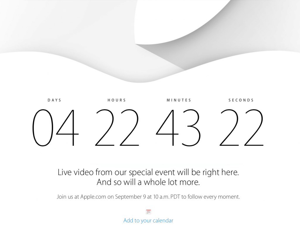 Apple Event - 9. September 2014 - Livestream
