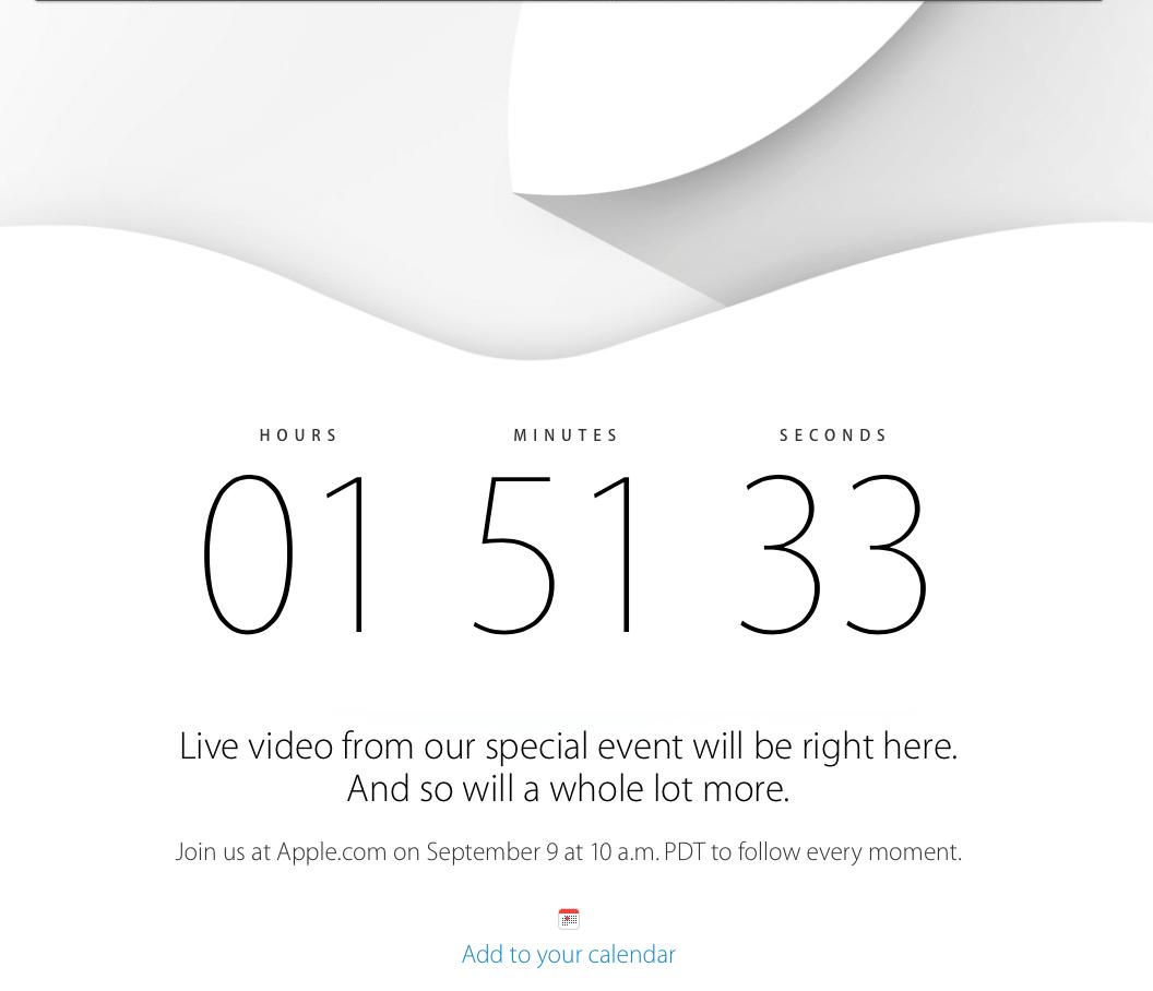 Was plant Apple für die heutige Keynote? Countdown auf Apple.com für die Spannung 1
