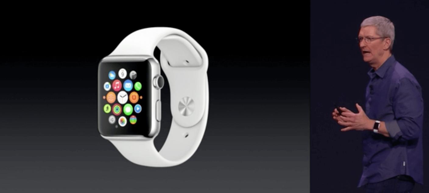 Hier präsentiert Tim Cook die Apple Watch