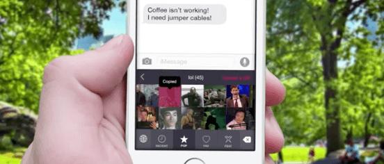 PopKey: iOS 8 Alternativ-Tastatur mit GIFs 1