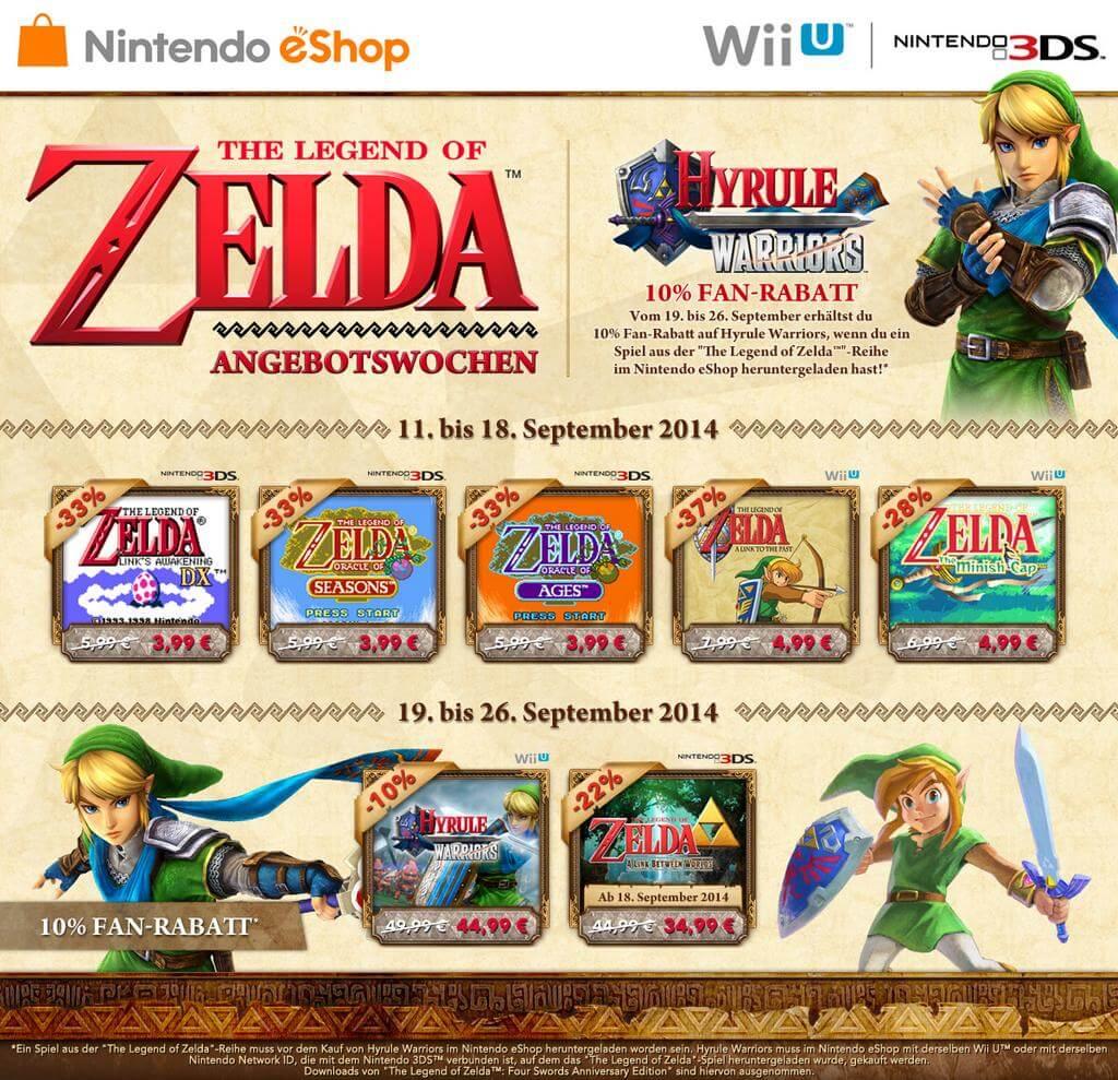 Nintendo eShop - Zelda im Angebot