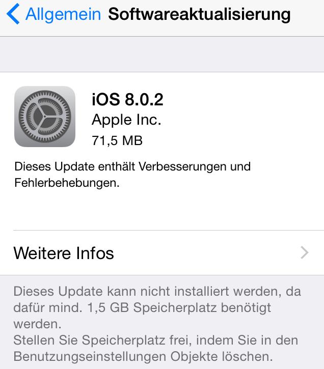 Apple iOS 8.0.2