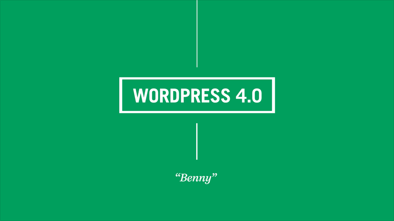 "WordPress 4.0 ""Benny"" nun erschienen 1"