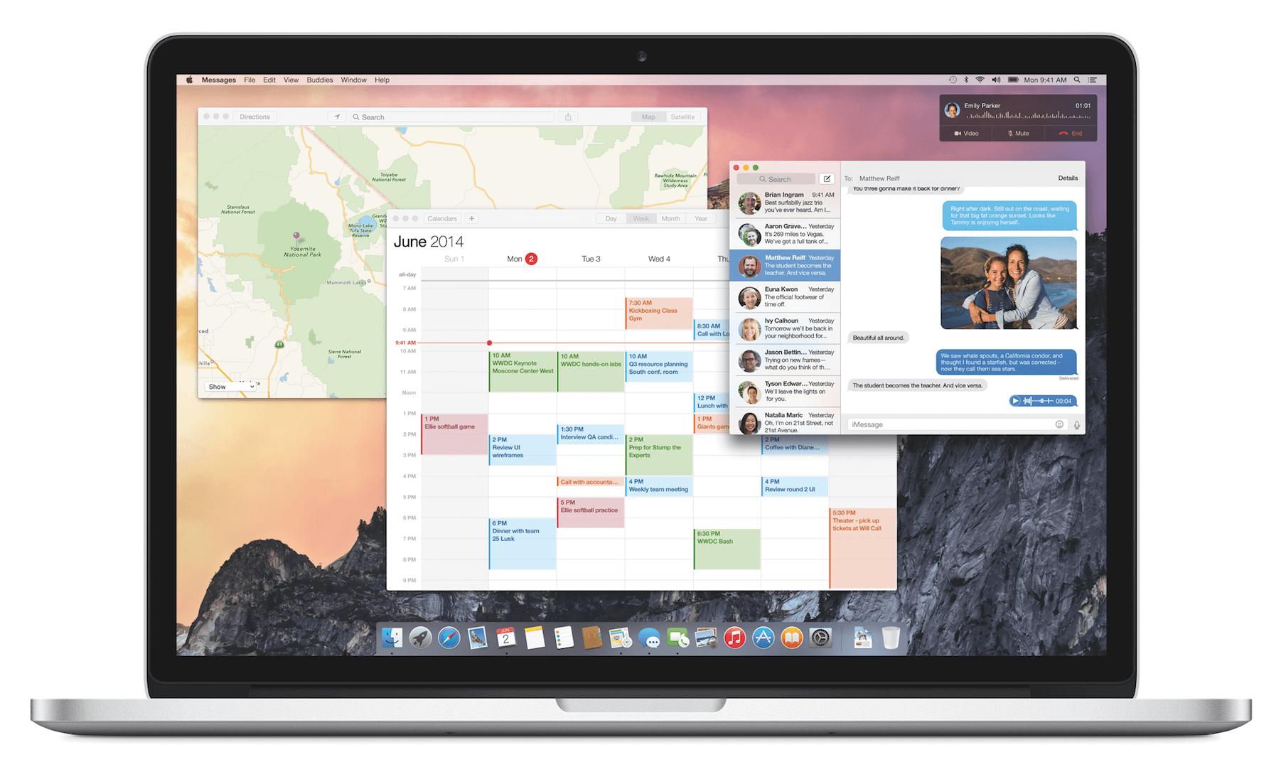 OS X Yosemite: Heute im App Store und natürlich Kostenlos mit iWork 6