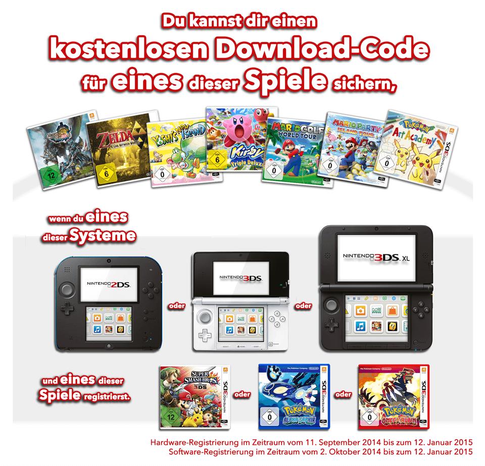 Nintendo Bonus Aktion 2014