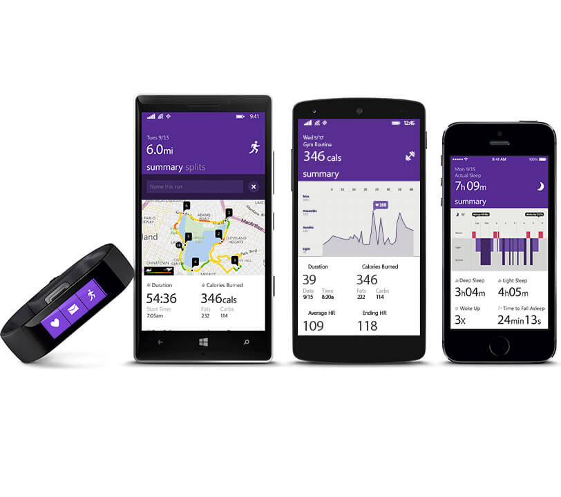 Microsoft Band - Android, Windows Phone, iOS