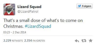 Lizard Squad auf Twitter (Screenshot: MagPC.de)