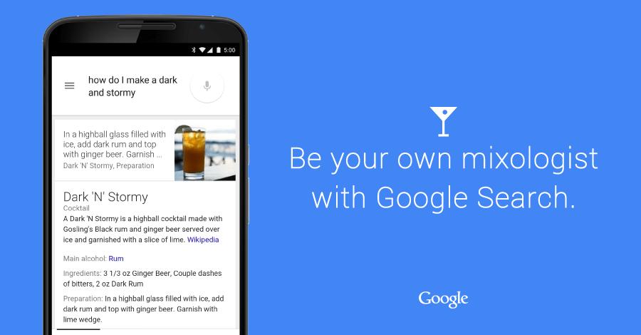 Google Cocktails: Die Suchmaschine wird zum Barkeeper 1