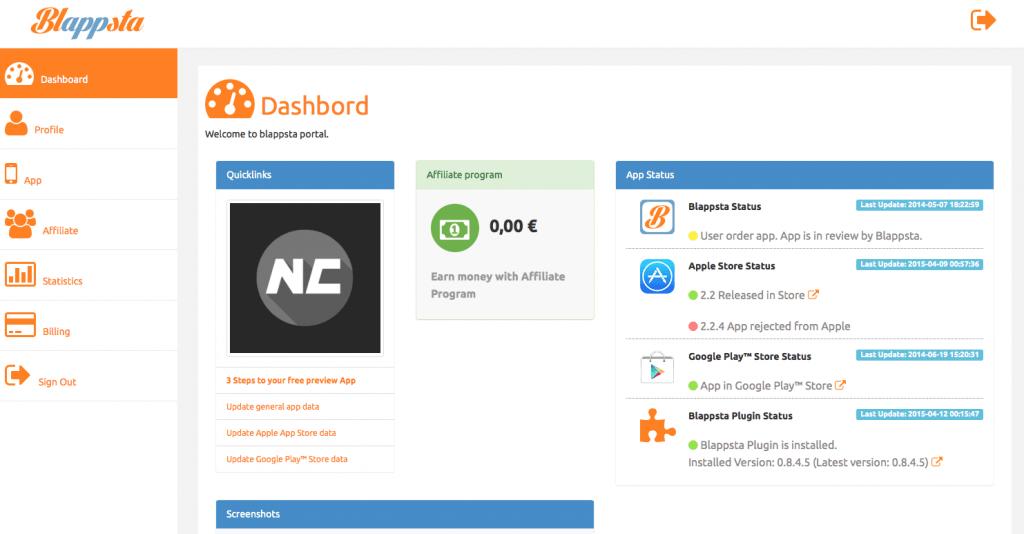 blappsta-dashboard