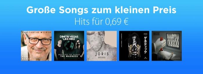 Große Hits für 69 Cent bei Apple iTunes 3