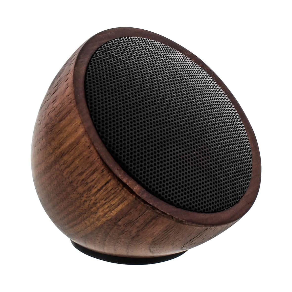 InLine Woodwoom - Mini-Bluetoothlautsprecher aus Walnussholz 🎵 3