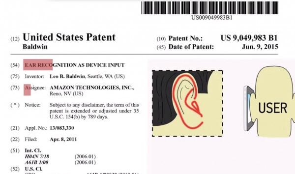 Mit dem Ohr das Smartphone entsperren - Amazon Patent