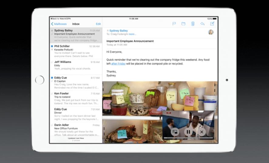 iOS 9 - Bild in Bild