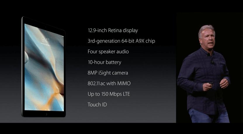 iPad Pro, Daten