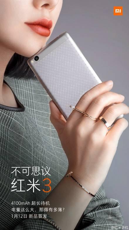 Xiaomi Redmi 3 Einladung