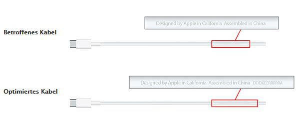 Apple USB-C-Kabel Austauschprogramm- Dieses Kabel ist betroffen