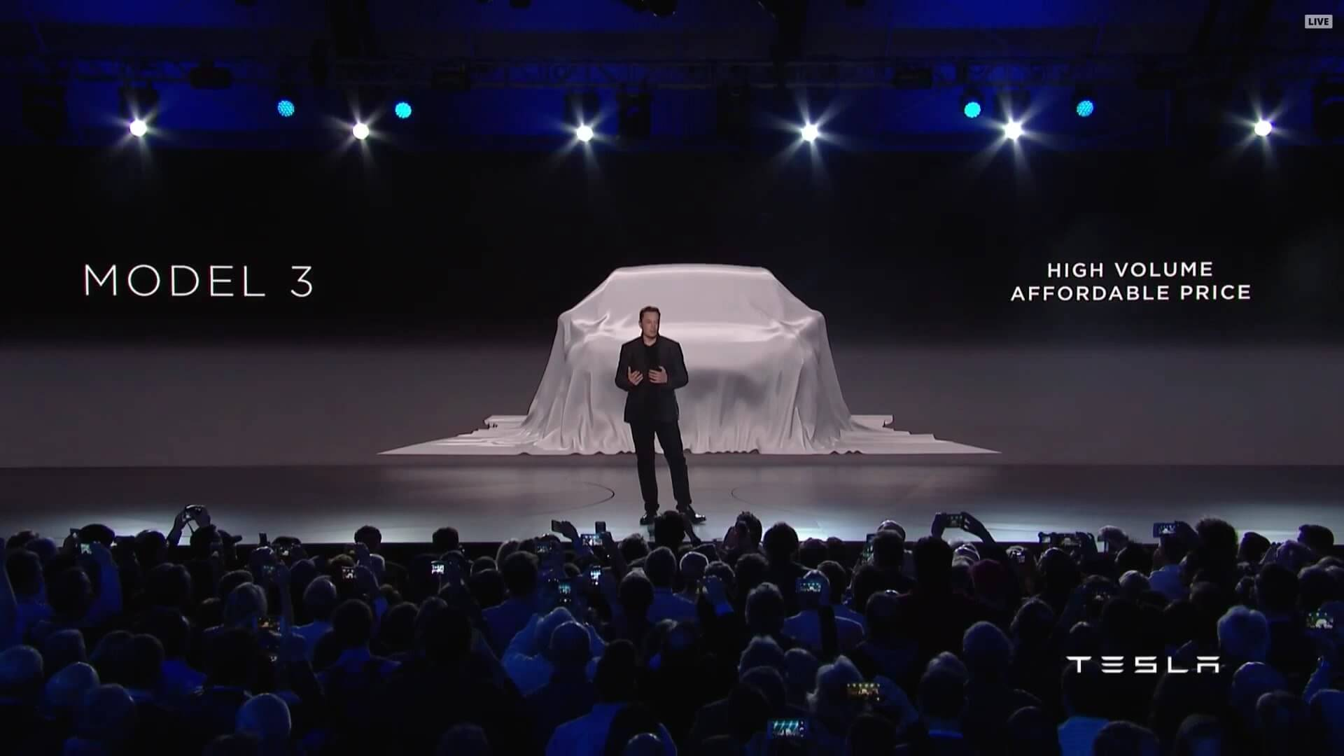 Tesla Model 3 Event mit Elon Musk