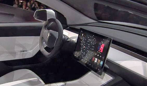 Tesla Model 3 Cockpit / Innenraum