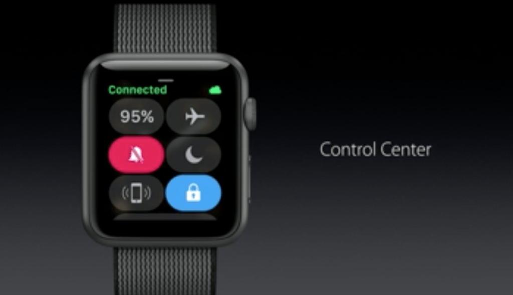 watchOS - Control Center