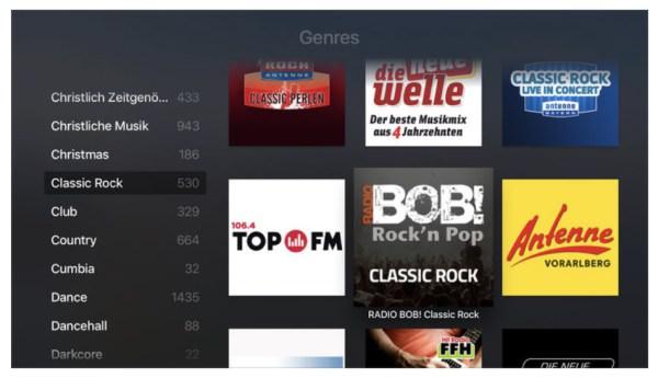Apple TV - radio.de App