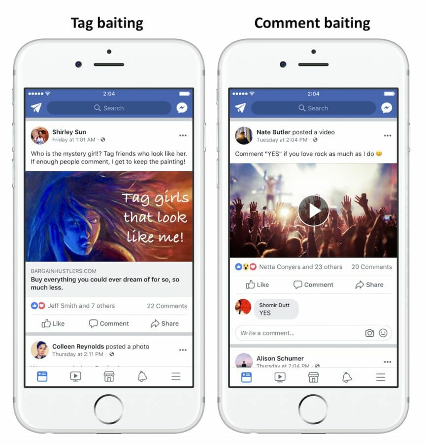 Facebook Engagement Baiting - FB Pages