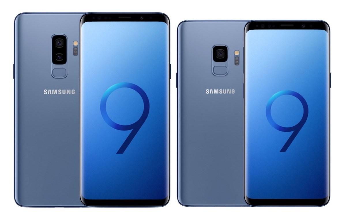 Samsung Galaxy S9 & S9+ in Blau