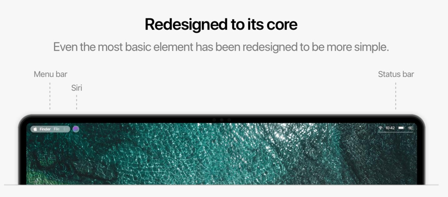 macOS 11 Elemente/Navigation - Konzept