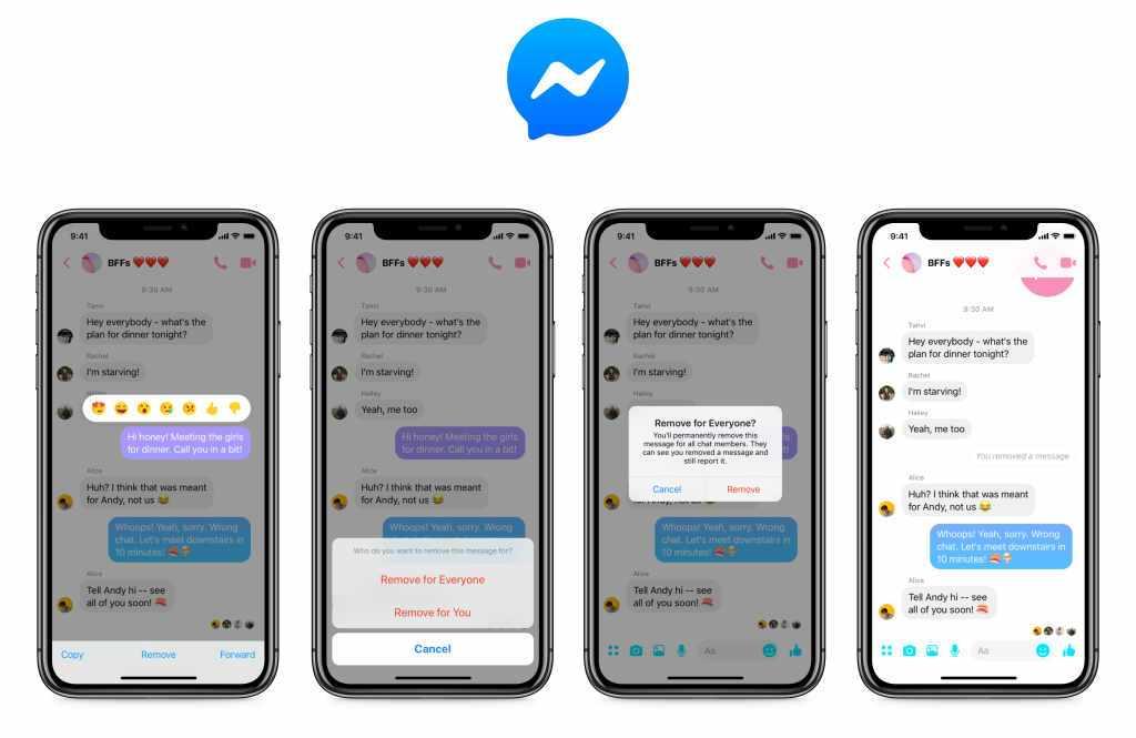 Facebook Messenger - Nachrichten löschen