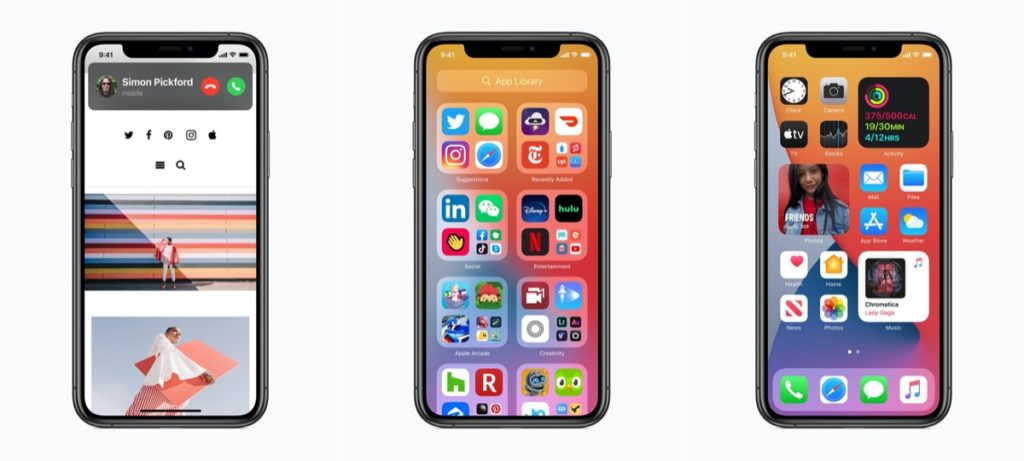 iOS 14 Ansicht