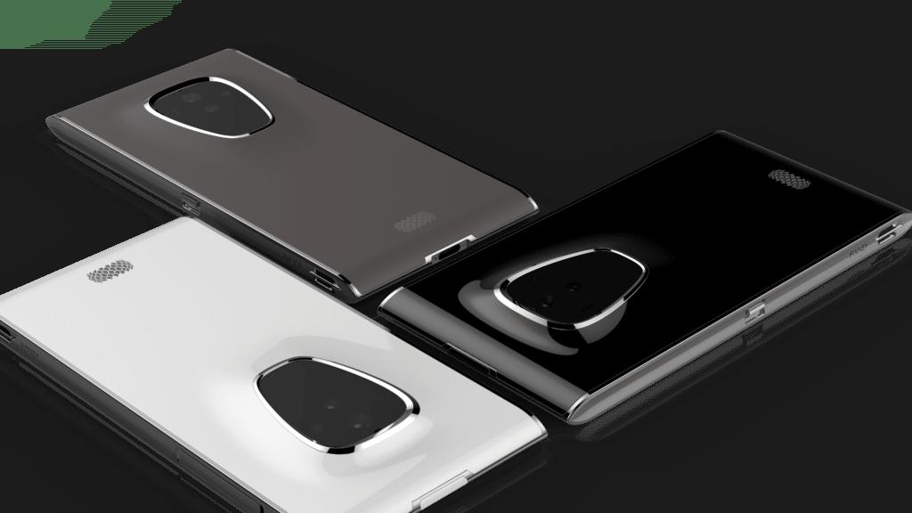 Sirin Labs Blockchain-Smartphone in unterschiedlichen Farben